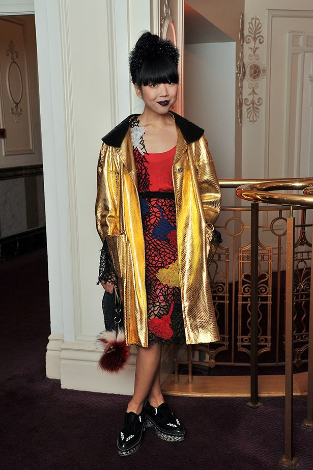 Blogger Susie Bubble worked yet another quirky ensemble.