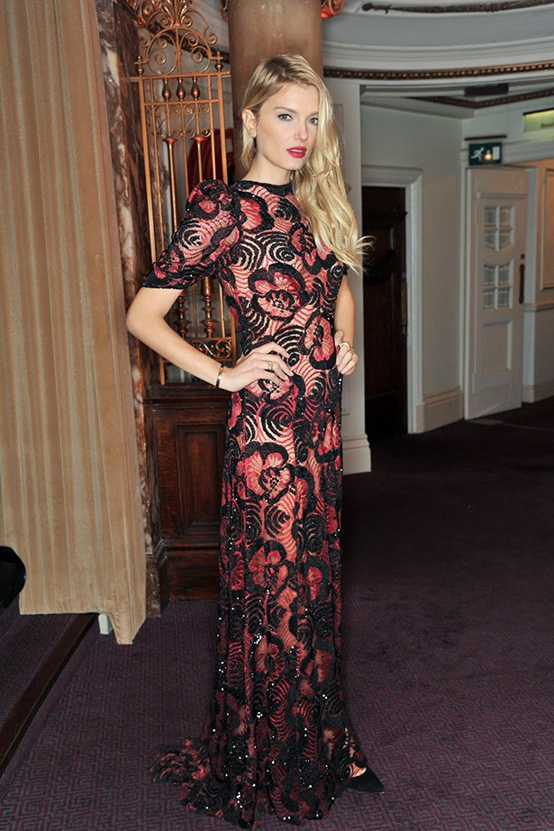 Lily Donaldson ensured all eyes were on her in this red dress by Marc Jacobs.