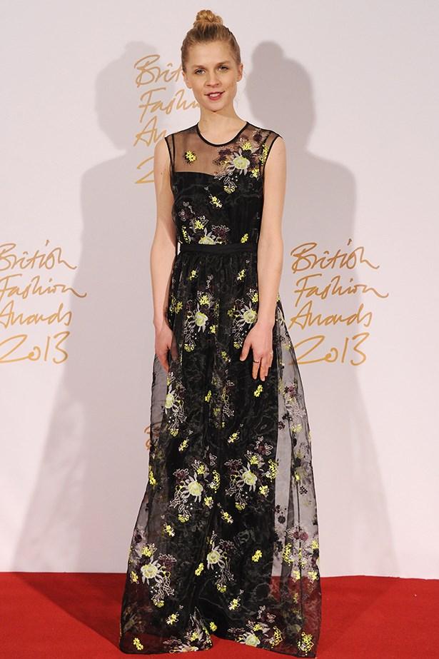 Clémence Poésy looked feminine in an Erdem lace dress.