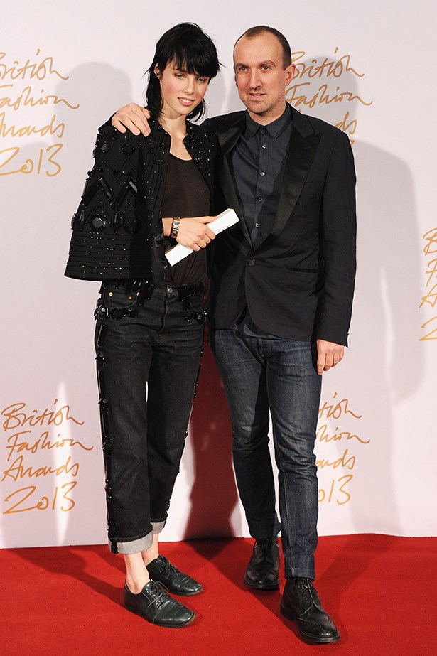 Model Edie Campbell rocked her tomboy style on the red carpet with photographer Tim Walker.