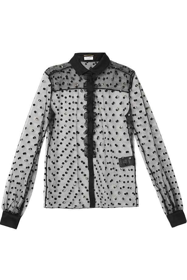 "<p>Blouse, $1,961, Saint Laurent, <a href=""http://www.matchesfashion.com "">matchesfashion.com </a></p>"
