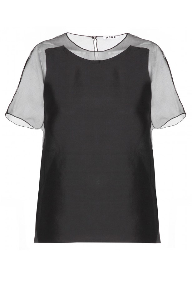 "<p>Top, $439, Acne, <a href=""http://www.mytheresa.com "">mytheresa.com </a></p>"