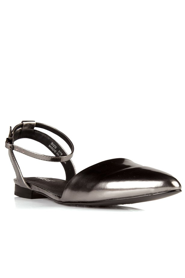 "Flats, $99.95, Shubar, <a href=""http://www.shubarshoes.com"">shubarshoes.com</a>"