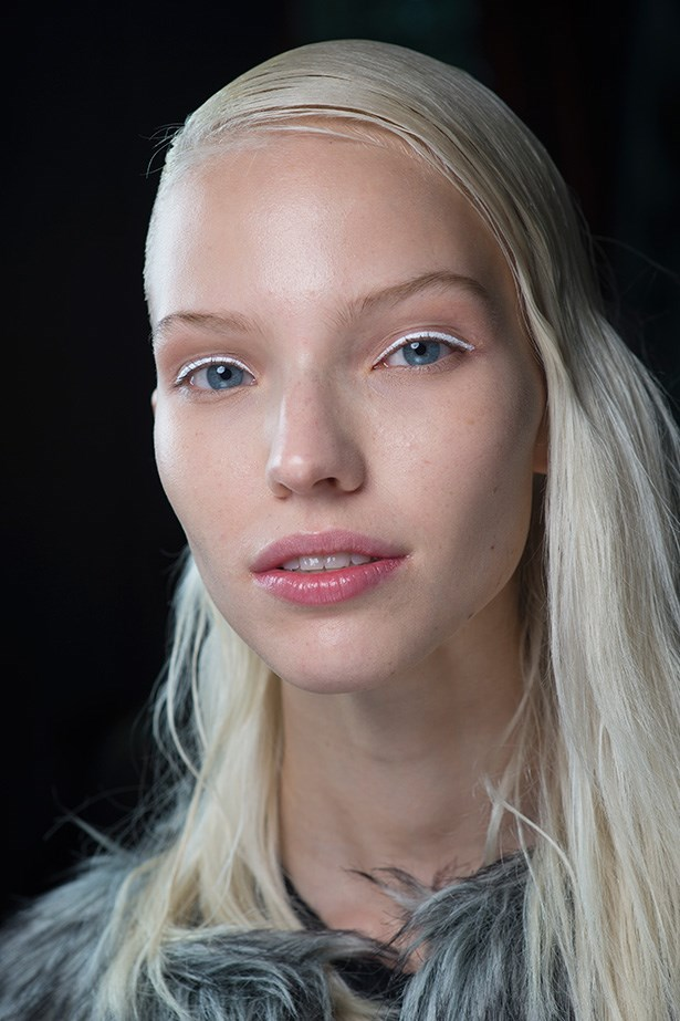 The icy eyeliner at Kenzo SS14 was minimalist chic – a statement look for Christmas drinks with colleagues.