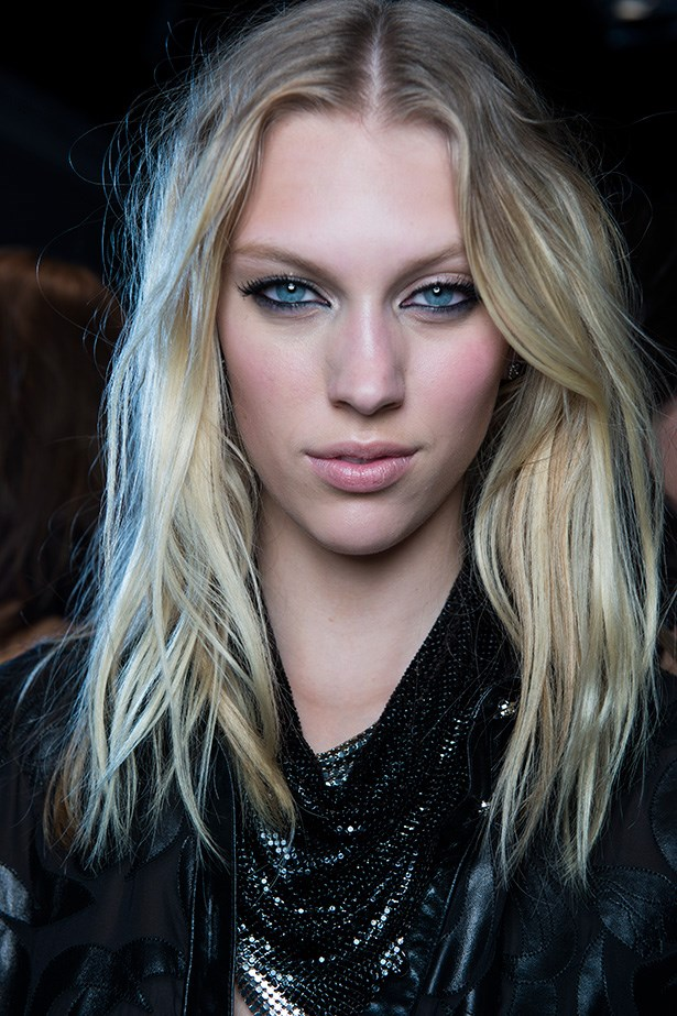 No matter the occasion, black kohl-defined eyes and lashings of mascara, as seen at Versace's SS14 show, is always nice—and a little bit naughty.