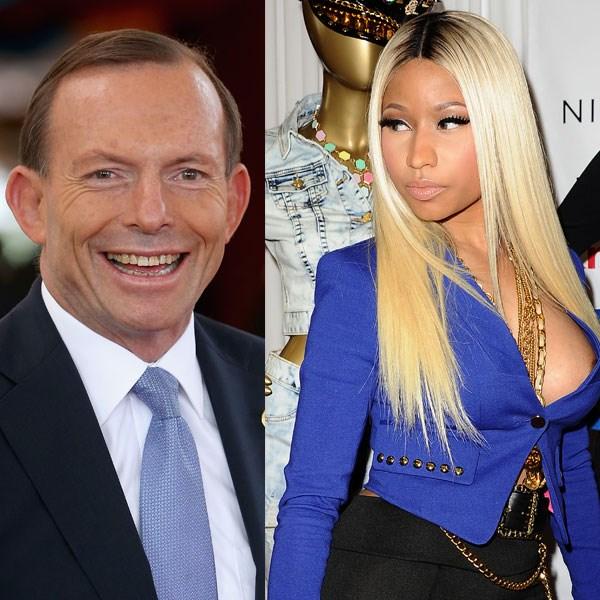 <strong>Number seven</strong><br> Australia: Tony Abbott<br> Rest of the world: Nicki Minaj