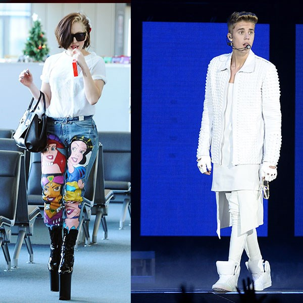 <strong>Number six</strong><br> Australia: Lady Gaga<br> Rest of the world: Justin Bieber