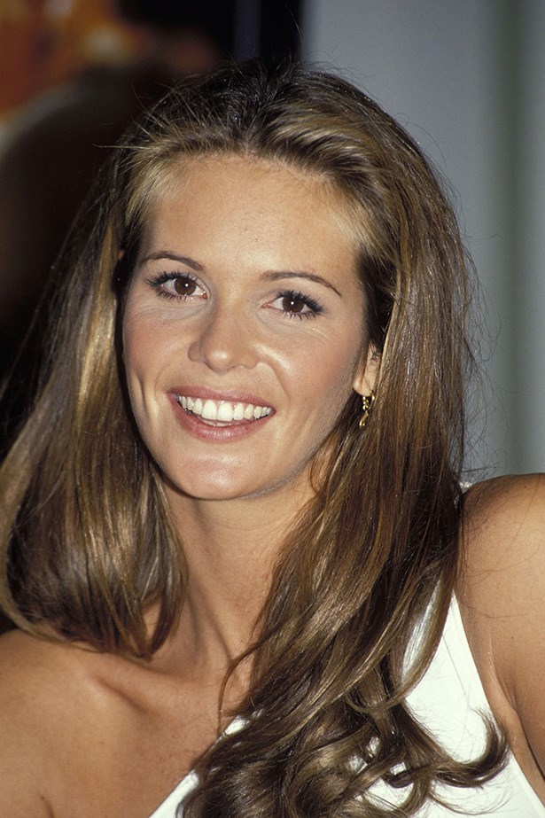 Made famous by her Sports Illustrated Swimsuit issues during the 80's, Elle Macpherson a.k.a 'The Body', opts for a plenty of mascara and light blusher at a press conference in 1994.