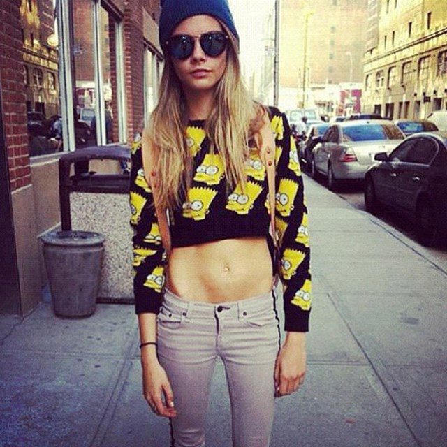 <p><strong>6. She loves high-street shopping </strong></p> <p>Even though she has designers throwing stuff at her, Cara's wardrobe has a healthy injection of high-street. </p> <p>@caradelevingnestyle</p>
