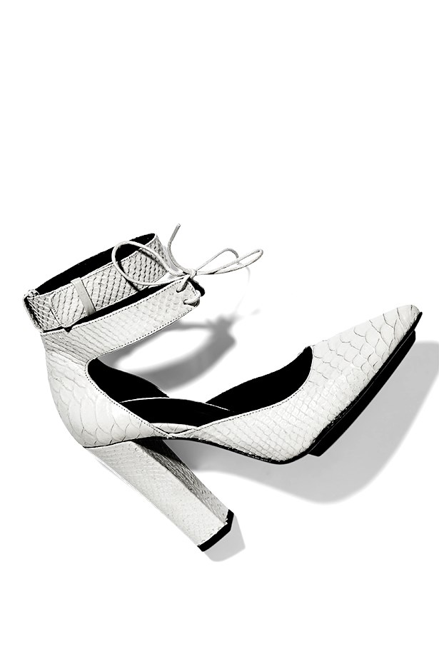 "Heels, $450, Scanlan Theodore, <a href=""http://www.scanlantheodore.com.au"">scanlantheodore.com.au</a>"