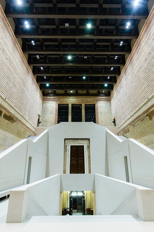 Neues Museum staircase designed by David Chipperfield