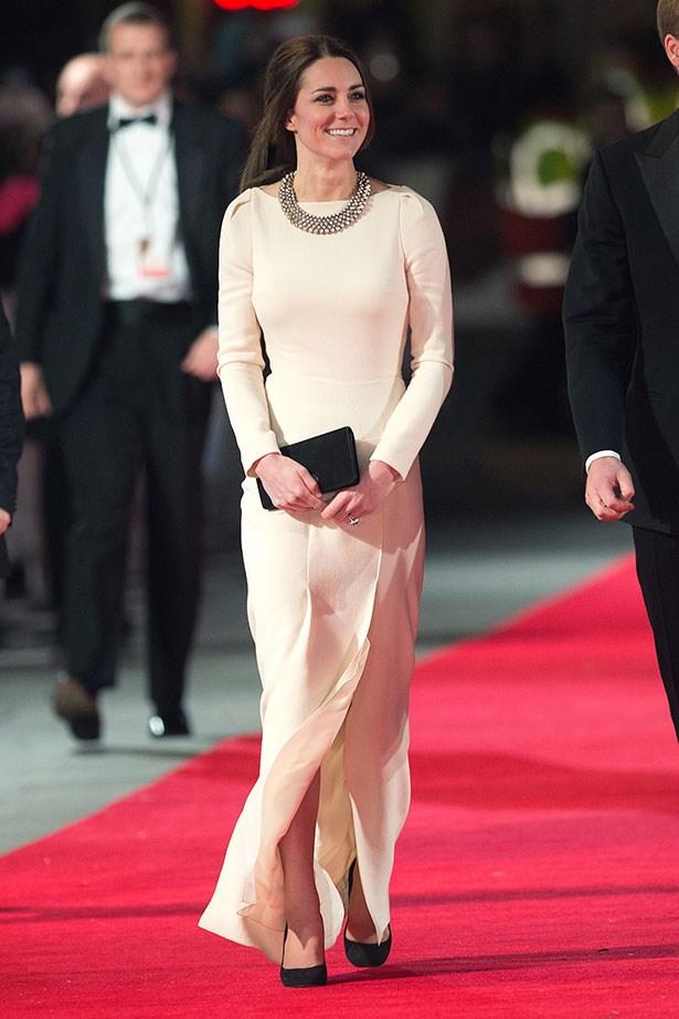 HRH Kate Middleton wearing ZARA on the red carpet