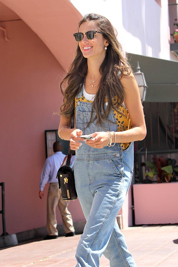 <p><strong>3. Overalls</strong></p> <p>Long or short, our favourite '90s get-up has made a return. Labels such as 3.1 Phillip Lim and Jason Wu are largely responsible for their resurgence, with celebs Alessandra Ambrosio, Alexa Chung, Liv Tyler and Cressida Bonas quickly getting onboard. Take your 'ralls from the farm to the workplace with the addition of a tailored blazer, heels or a cute blouse underneath. They're also a great trans-seasonal piece and we predict they'll be the outfit of choice for the upcoming festival season. </p> <p>Alessandra Ambrosio</p>
