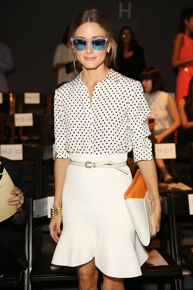 <p><strong>4. Mirrored sunglasses</strong></p> <p>Feel like everyone is suddenly hanging onto every word you say? Oh right, they're just checking themselves out in your fabulous '80s-style reflective shades. When It girls Olivia Palermo and Jessica Alba are working the trend, you know it's worth dipping into (again). Simplicity is the key: keep the rest of your outfit pared back to balance out the shine. We're loving the range of rainbow colours – and the fact even guys can get onboard with this look.</p> <p> Olivia Palermo</p>