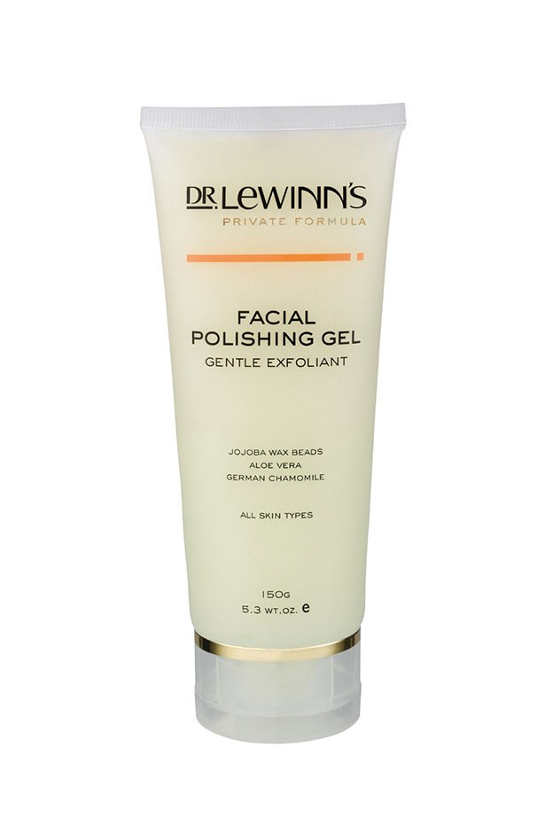 """Facial Polishing Gel Gentle Exfoliant, $29.95, Dr Lewinn's, <a href=""""http://drlewinns.com.au"""">drlewinns.com.au</a> With chamomile and aloe vera extracts, this exfoliator is perfect for even the most sensitive skin."""