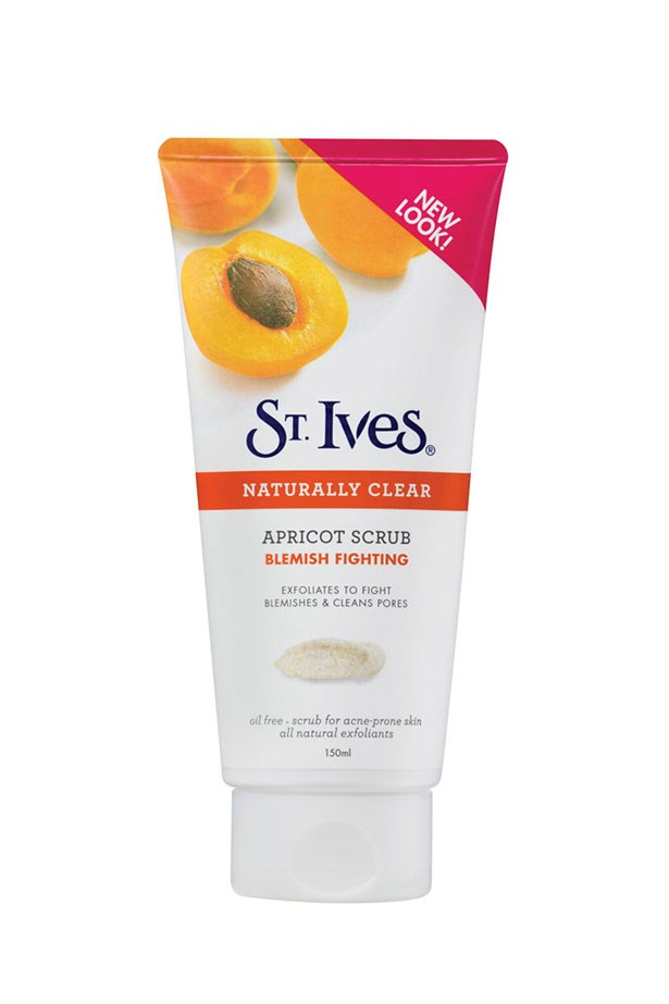 Naturally Clear Blemish Fighting Apricot Scrub, $9.99, St Ives, 1800 061 027 This cult classic deserves all the hype it gets – with antioxidants from apricots and corn kernels, it helps promote skin cell regeneration and softer skin. Plus, it's perfect for girls on a budget.