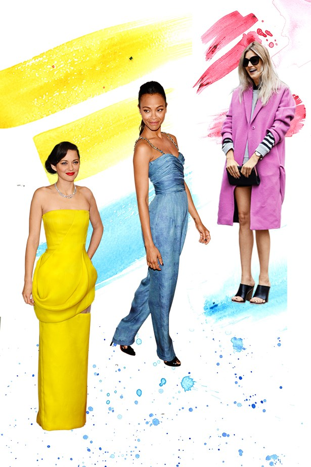 See the best red carpet, street style and off duty outfits from every corner of the colour spectrum.