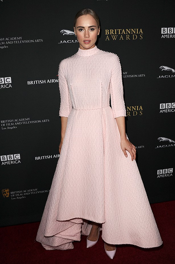 Suki Waterhouse in Emilia Wickstead