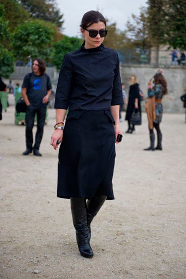 All black worn to Paris fashion week