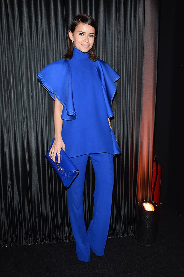 <p><strong>Blue</strong></p> Miroslava Duma in Gucci