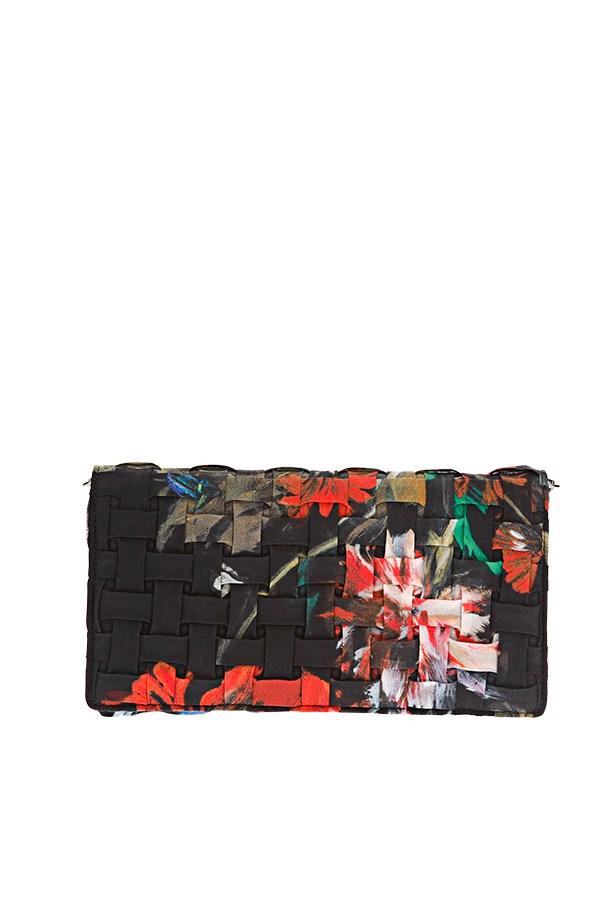 """Floral clutch, $800, Roberto Cavalli, <a href=""""http://www.farfetch.com/"""">farfetch.com</a>"""