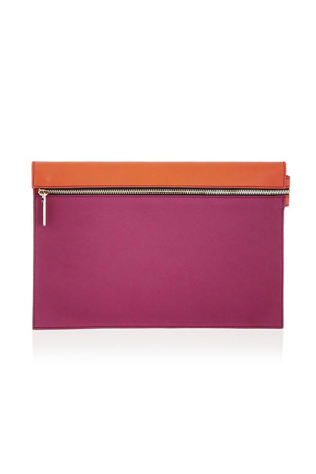 """Two-tone clutch, $663, Victoria Beckham, <a href=""""http://www.net-a-porter.com/product/403953"""">net-a-porter.com</a>"""