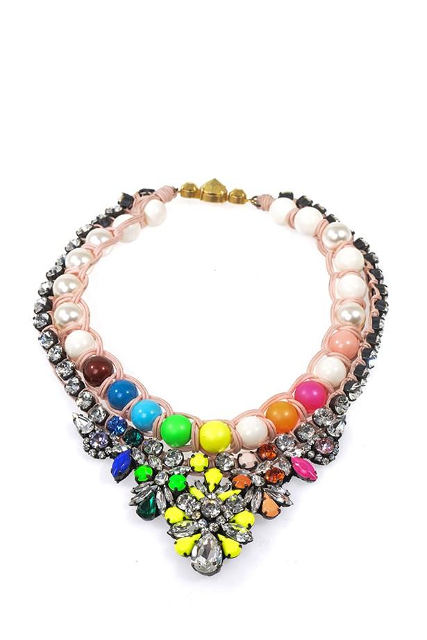 "Necklace, $935, Shourouk, <a href=""http://www.matchesfashion.com/product/178705"">matchesfashion.com</a>"