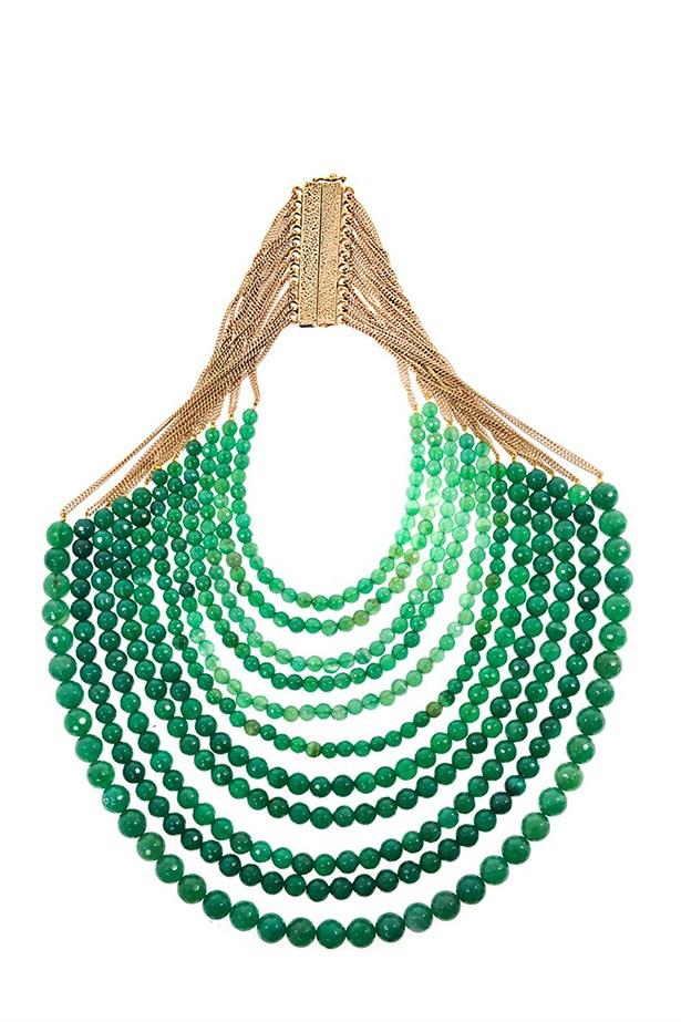 "Beaded necklace, $634, Rosantica, <a href=""http://www.matchesfashion.com/product/173516"">matchesfashion.com</a>"
