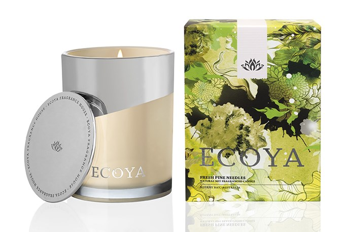 """Without a real Christmas tree this year? You'll quickly forget your doppelganger tree is faux with the Fresh Pine Needles candle from Ecoya ($39.95, <a href=""""http://ecoya.com"""">ecoya.com</a>)."""