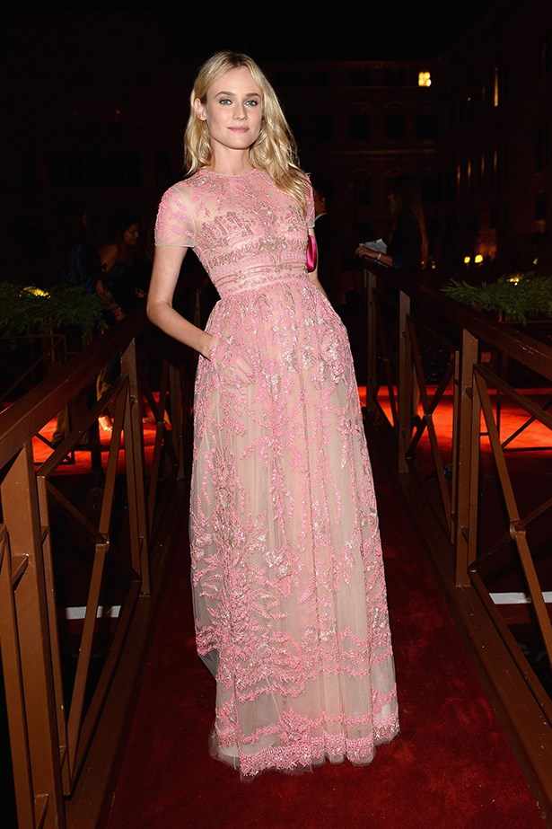 <p><strong>Pink</strong></p> Diane Kruger in Valentino