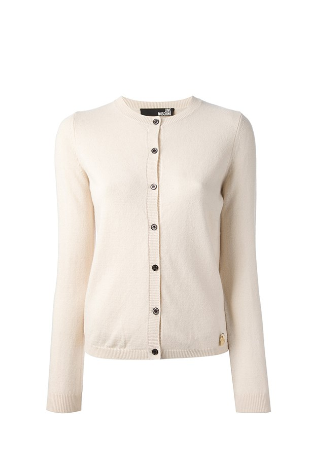 "Cardigan, approx $380, Love Moschino, <a href=""http://www.farfetch.com"">farfetch.com</a>"