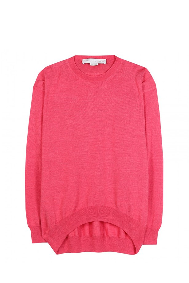 "Sweater, $704, Stella McCartney,<a href=""http://www.mytheresa.com/en-au/wool-and-silk-blend-sweater-259425.html""> mytheresa.com</a>"