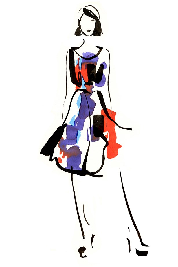 Sketches from the Oscar de la Renta for TheOutnet.com collection