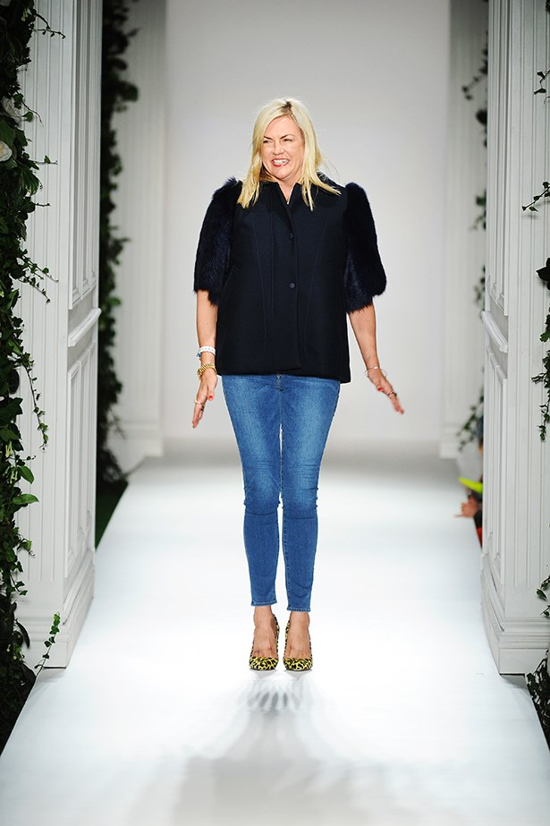Designer Emma Hill on the runway