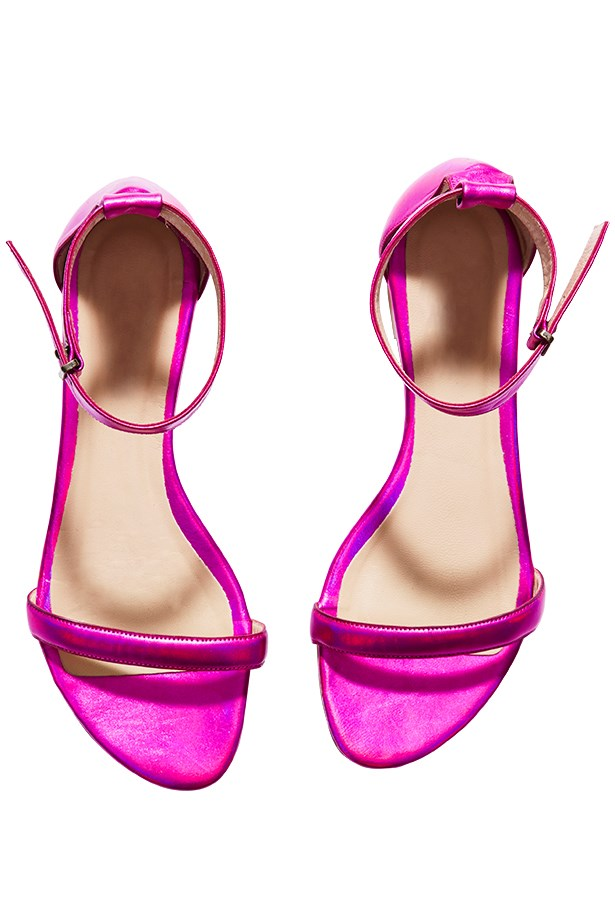 "Sandals, $199, The Mode Collective, <a href=""http://www.themodecollective.com"">themodecollective.com</a>"