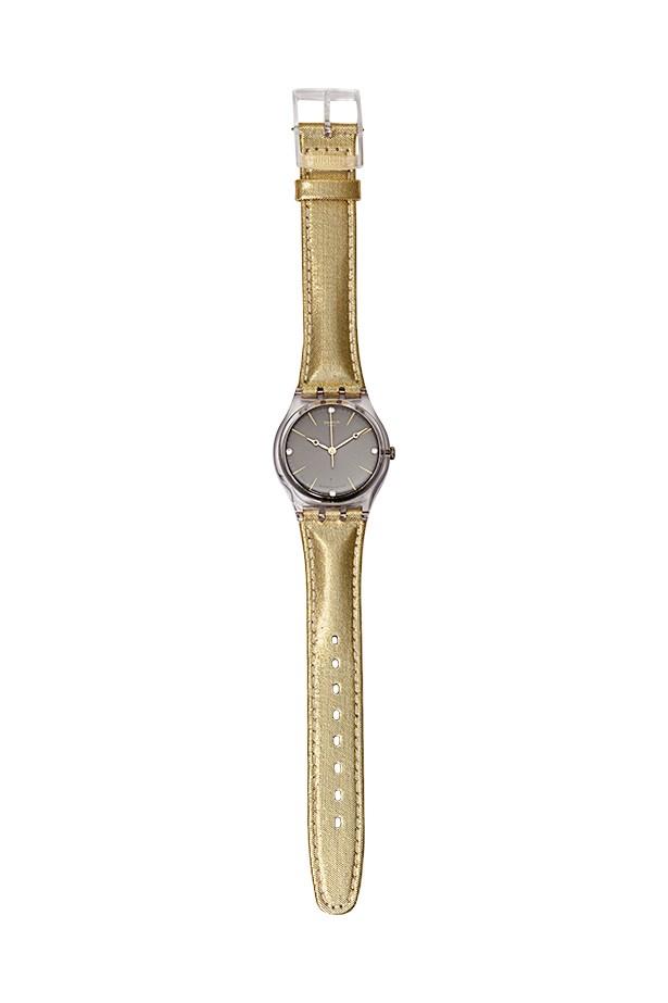 """Watch, $80, Swatch, <a href=""""http://www.swatch.com"""">swatch.com</a>"""