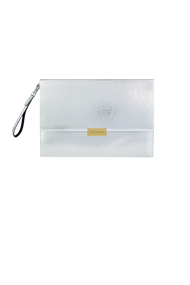 "Clutch, approx $786, Stella McCartney,<a href=""http://www.stellamccartney.com""> stellamccartney.com</a>"