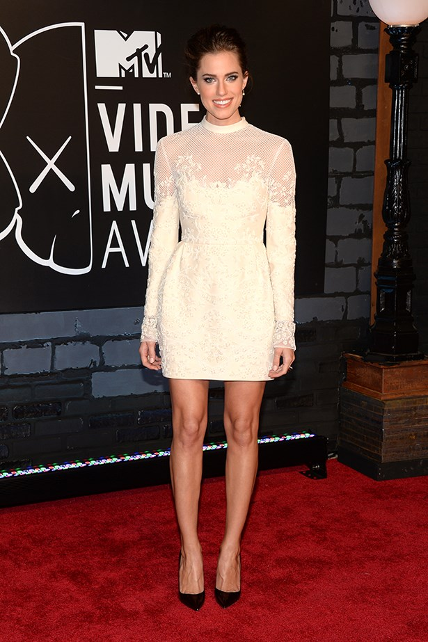 <p><strong>Most promising newcomer</strong></p> <p><strong>Allison Williams</strong></p> <i>Image: Wearing Valentino at the MTV Video Music Awards.</i>