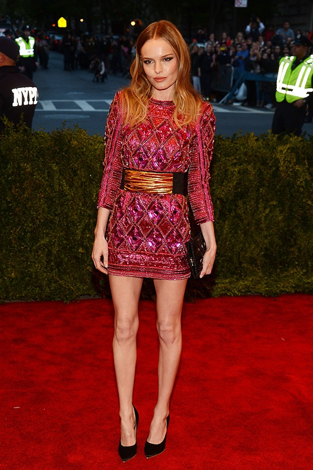 <p><strong>Best edit from the runway</strong></p> <p><strong>Kate Bosworth</strong></p> <i>Image: Wearing Balmain at the Met Gala.</i>
