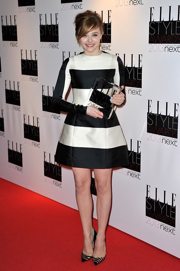 <p><strong>Teen choice award</strong></p> <p><strong>Chloë Grace Moretz</strong></p> <p>With added merit for us of stripes, this sweet 16-year-old's style is age-appropriately quirky.</p> <i>Image: Wearing Stella McCartney at the Elle Style Awards.<i>