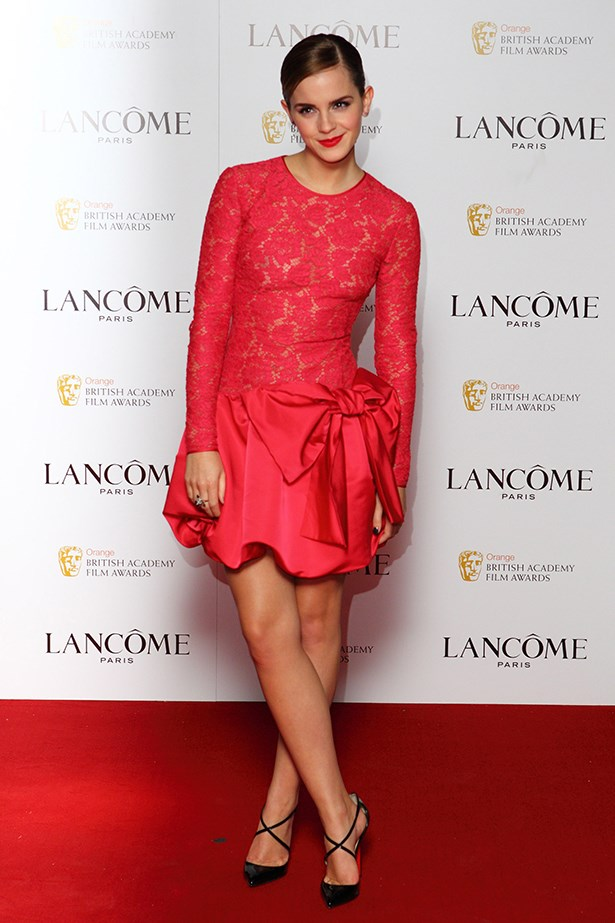 <p><strong>Honourable mention</strong></p> <p><strong>Emma Watson</strong></p> <p>Sophisticated in monochrome, her wardrobe continues to evolve in line with her career. Hermione who?</p> <i>Image: Wearing Valentino at a Lancôme party in honour of the BAFTAs.</i>