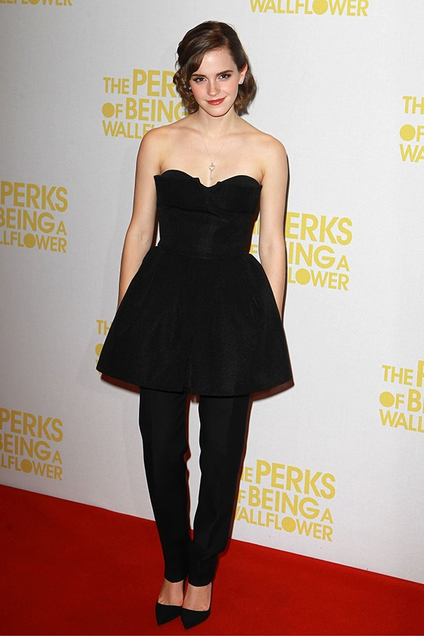 <p><strong>Honourable mention</strong></p> <p><strong>Emma Watson</strong></p> <i>Image: Wearing Dior at </i>The Perks Of Being A Wallflower<i> premiere, in London.</i>