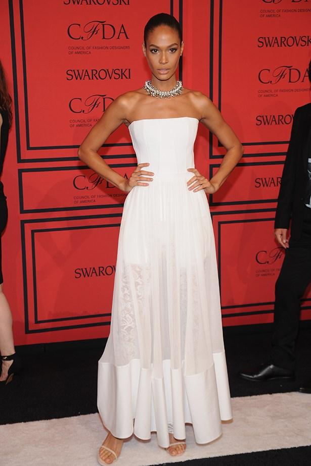 <p><strong>Model mention</strong></p> <p><strong>Joan Smalls</strong></p> <i>Image: Wearing Givenchy at the CFDA Fashion Awards.</i>