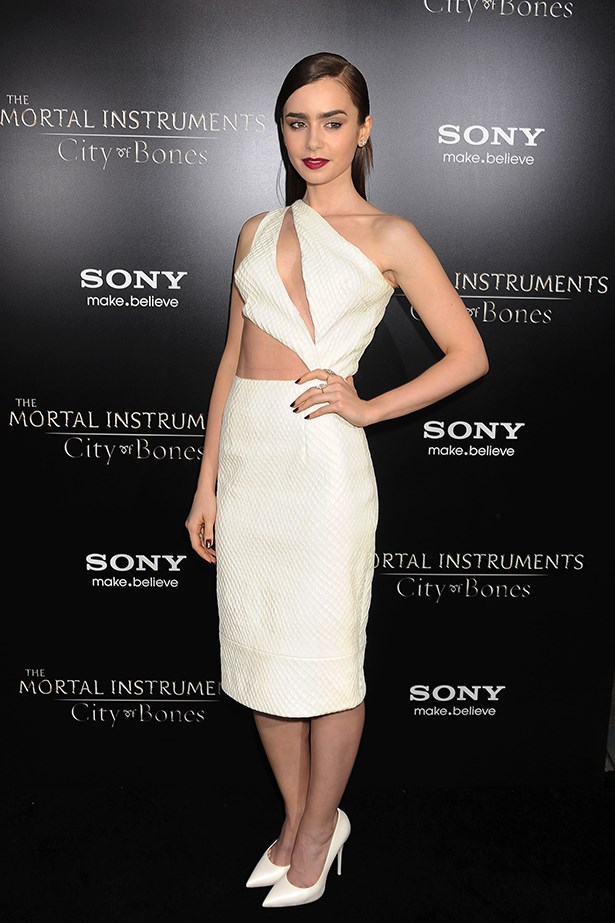 <p><strong>Most elegant display of midriff</strong></p> <p><strong>Lily Collins</strong></p> <i>Image: Wearing Cushnie et Ochs at </i>The Mortal Instruments: City of Bones<i> premiere, in Los Angeles.</i>