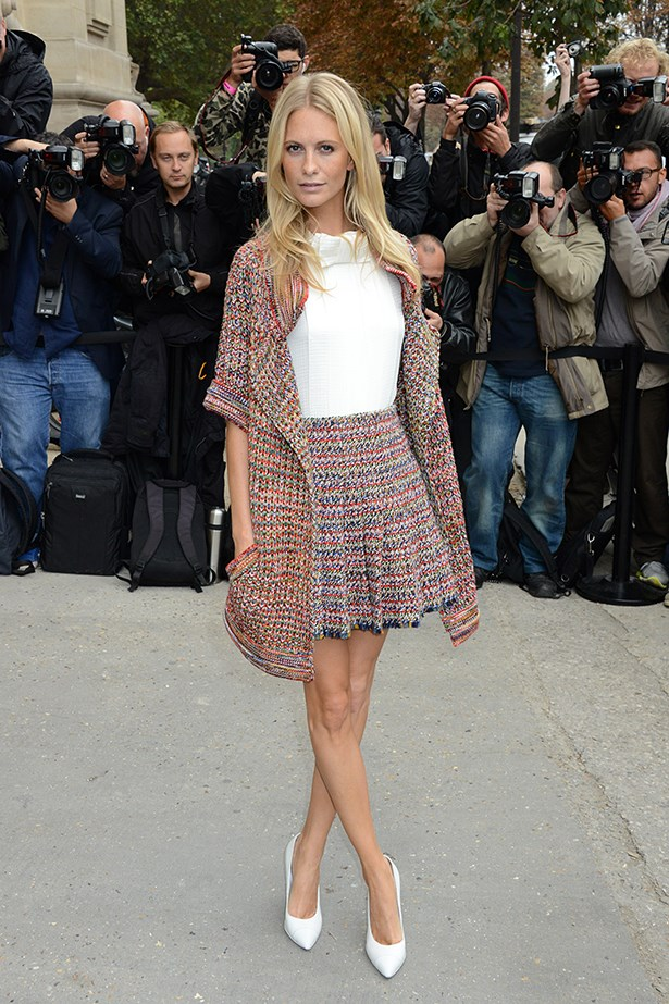 <p><strong>Best use of frills and florals by an adult</strong></p> <p><strong>Poppy Delevingne</strong></p> <i>Image: Wearing Chanel at Paris Fashion Week.</i>