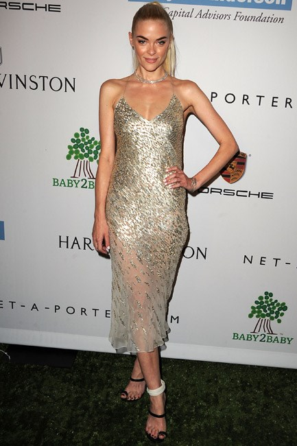 Jaime King's bias-cut Jason Wu slip dress, which she wore to the Baby2Baby Gala in California, cut the simplest of silhouettes but with the most decadent of fabrications.