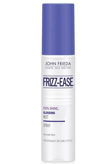 <strong>Windswept</strong><br> Product: John Frieda FRIZZ-EASE® 100% Shine® Glossing Mist, $16.99; www.johnfrieda.com