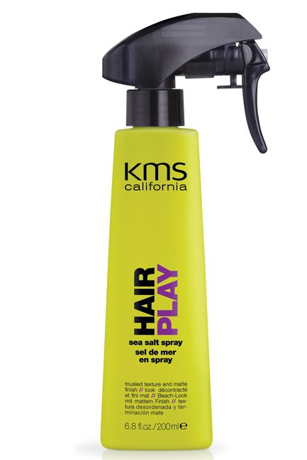 <strong>Undefined up 'do</strong><br> Product: KMS HAIRPLAY Sea Salt Spray, $36.95; www.kmscalifornia.com
