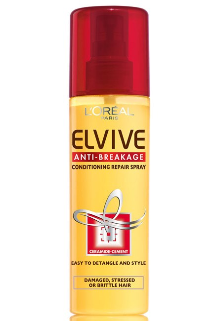 <strong>Half-up look</strong><br> Product: L'Oreal Elvive Anti-Breakage Conditioning Protect Spray, $6.95; www.lorealparis.com.au