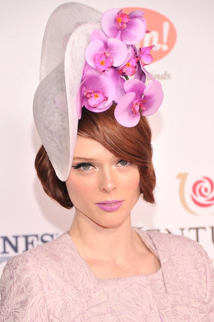 Not only did Coco Rocha <em>literally</em> wear Radiant Orchids on her head at the Kentucky Derby, she went one step further and wore the tint on her lips, too.